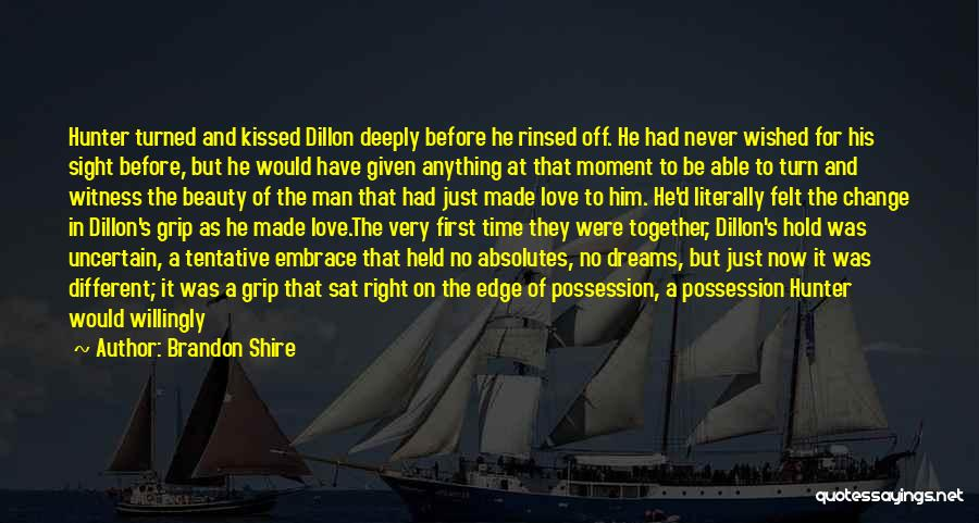 It's Different Now Quotes By Brandon Shire
