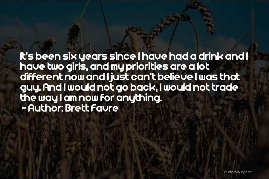 It's Different Now Quotes By Brett Favre