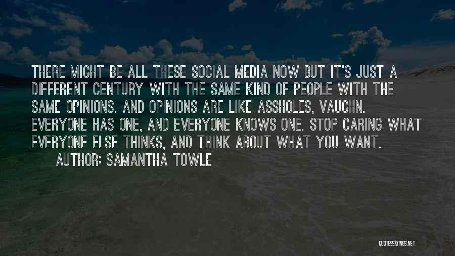 It's Different Now Quotes By Samantha Towle