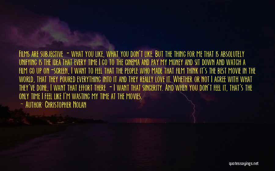It's Love When Quotes By Christopher Nolan