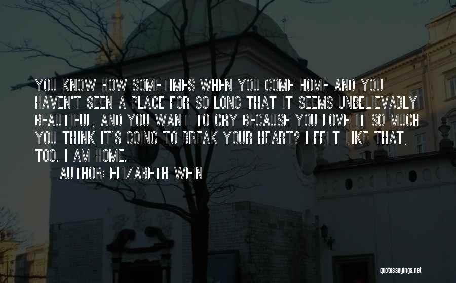 It's Love When Quotes By Elizabeth Wein