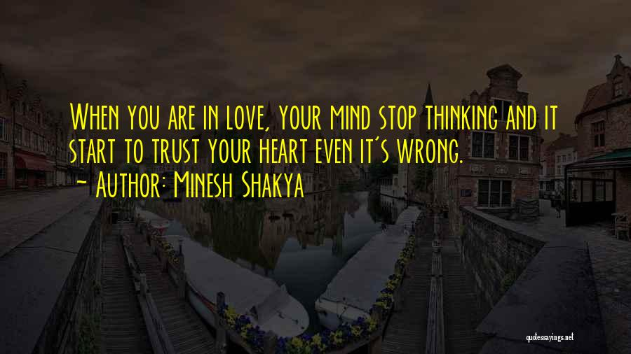 It's Love When Quotes By Minesh Shakya