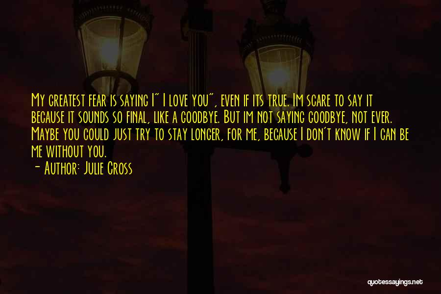 It's Not Goodbye Quotes By Julie Cross