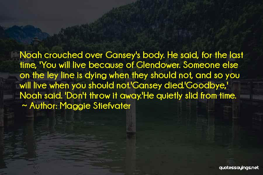 It's Not Goodbye Quotes By Maggie Stiefvater