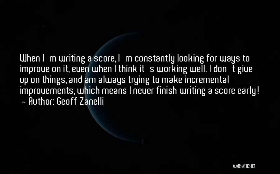 It's Well Quotes By Geoff Zanelli