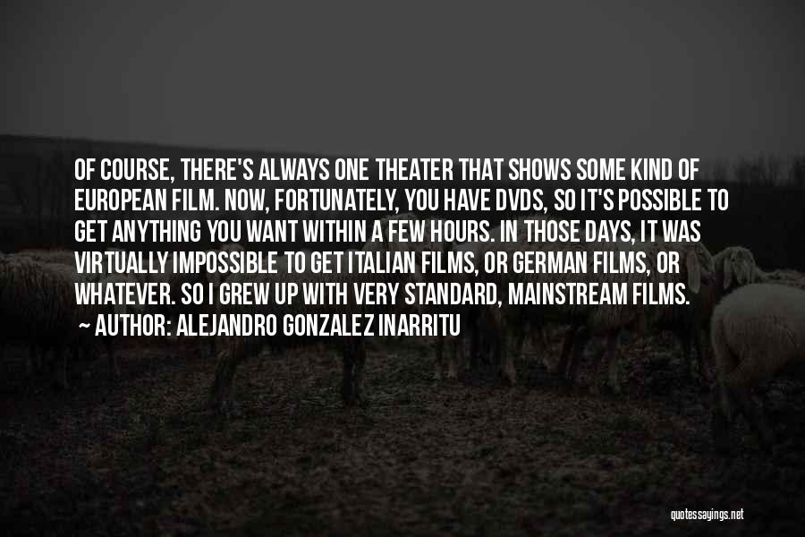 It's Whatever Now Quotes By Alejandro Gonzalez Inarritu