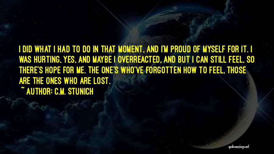 I've Lost Myself Quotes By C.M. Stunich