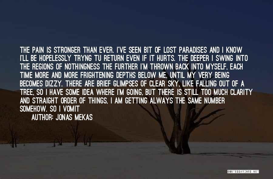 I've Lost Myself Quotes By Jonas Mekas