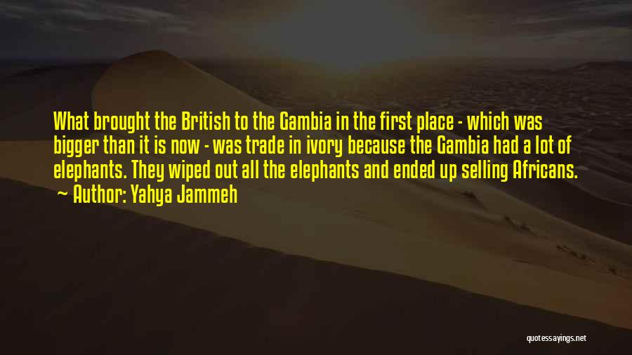 Ivory Trade Quotes By Yahya Jammeh