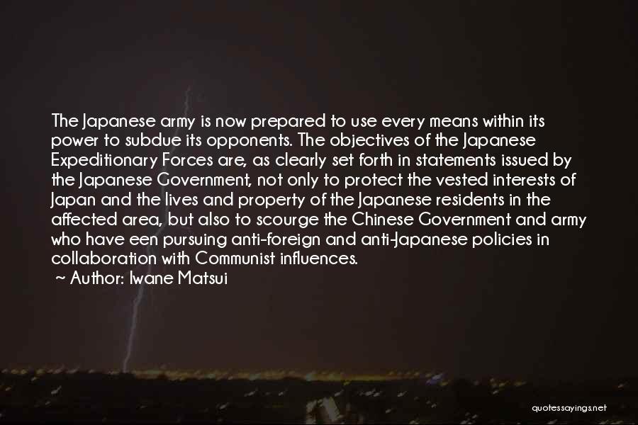 Iwane Matsui Quotes 943859
