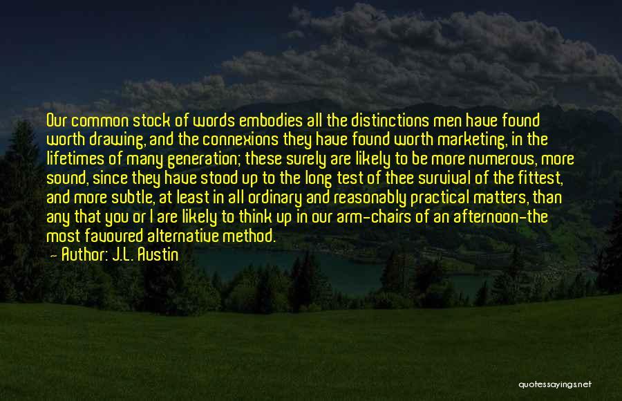 J.L. Austin Quotes 143631