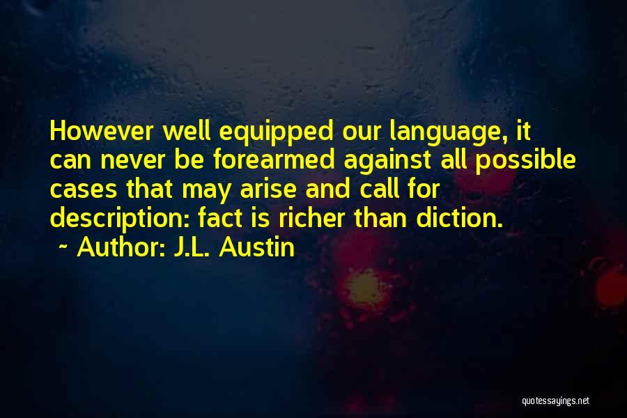 J.L. Austin Quotes 470693