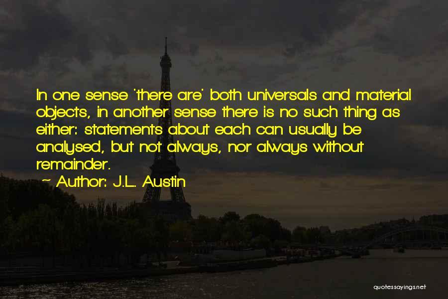 J.L. Austin Quotes 985759