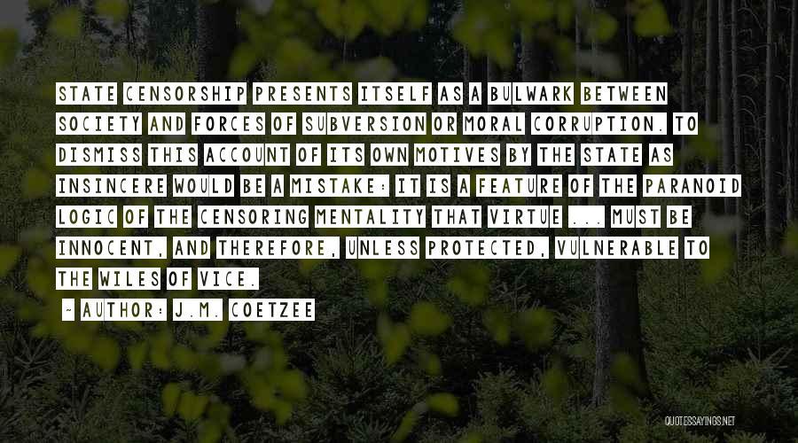 J.M. Coetzee Quotes 426949