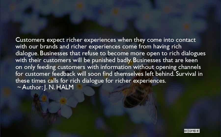 J. N. HALM Quotes 754569