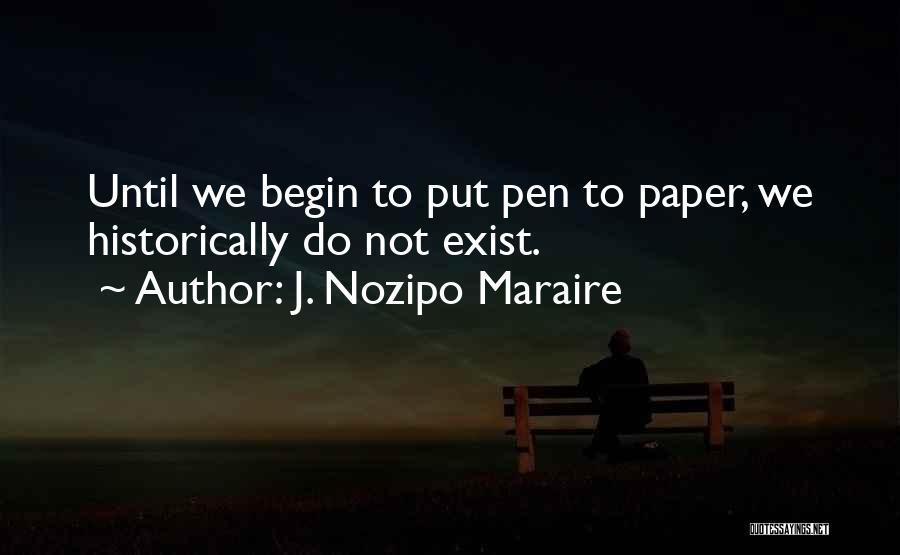 J. Nozipo Maraire Quotes 1642878