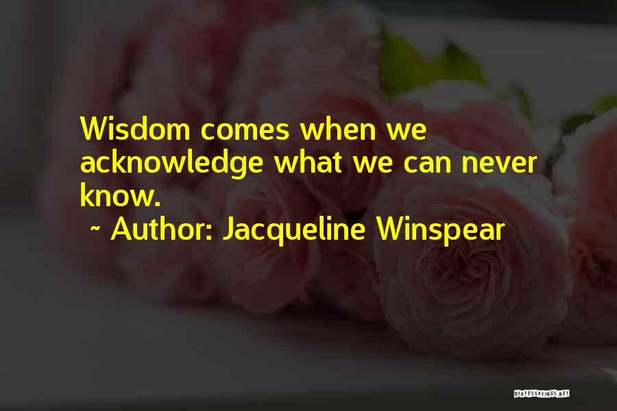 Jacqueline Winspear Quotes 517927