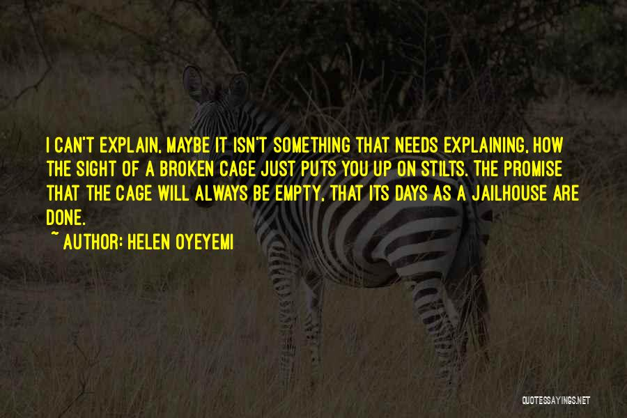 Jailhouse Quotes By Helen Oyeyemi