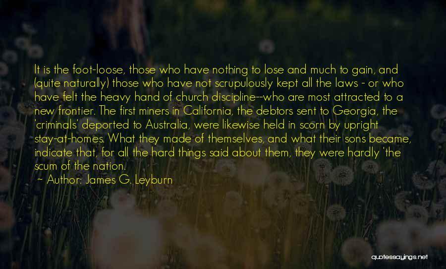 James G. Leyburn Quotes 1307299
