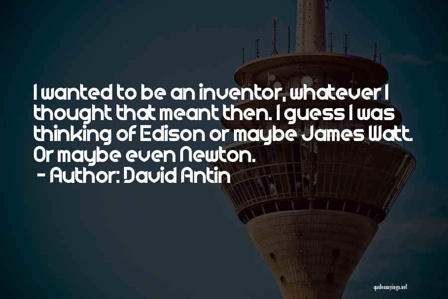 James Watt Quotes By David Antin