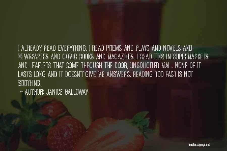 Janice Galloway Quotes 1397025