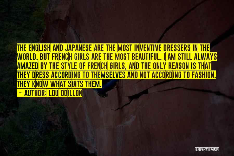 Japanese Fashion Quotes By Lou Doillon