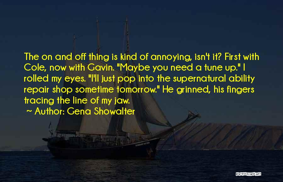 Jaw Line Quotes By Gena Showalter