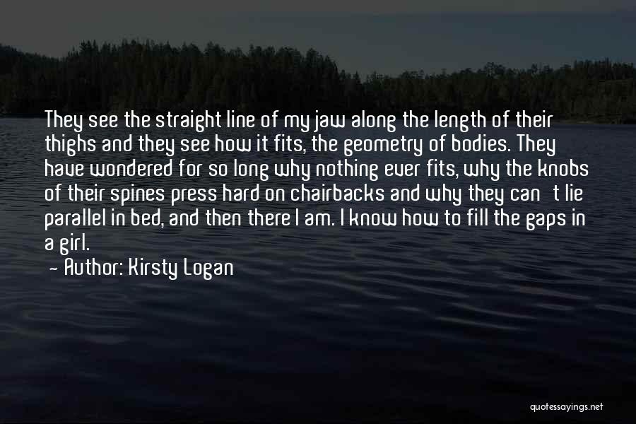 Jaw Line Quotes By Kirsty Logan