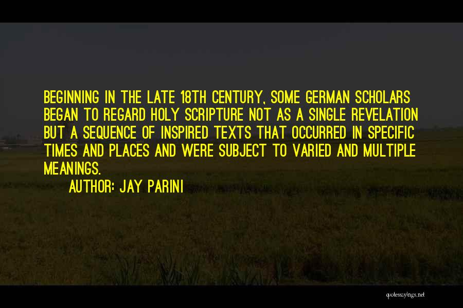 Jay Parini Quotes 322997