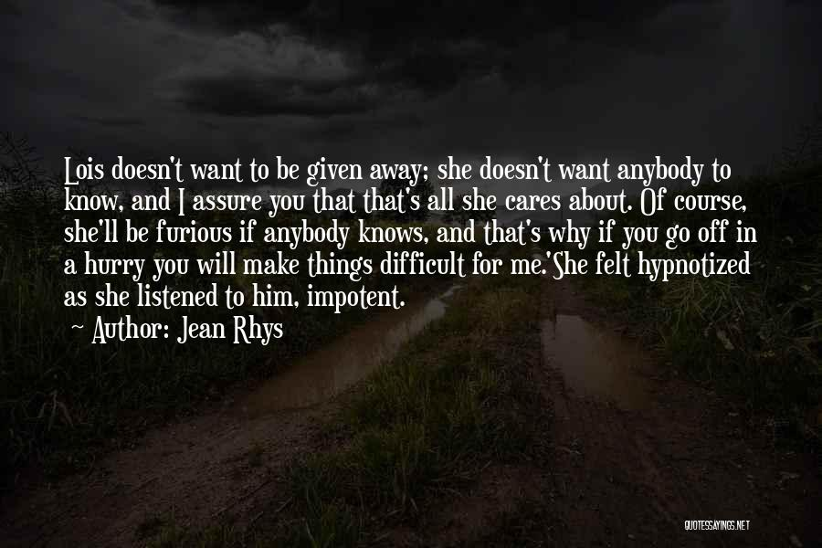 Jean Rhys Quotes 1380106