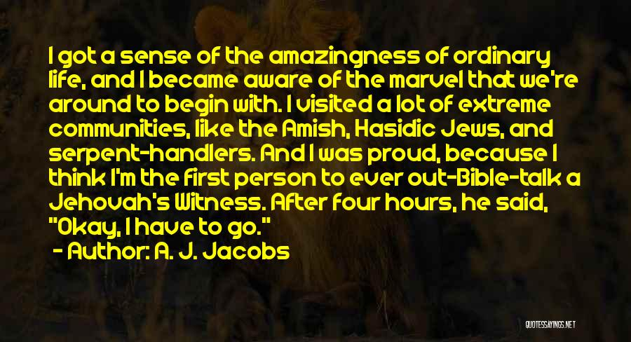 Jehovah Witness Bible Quotes By A. J. Jacobs