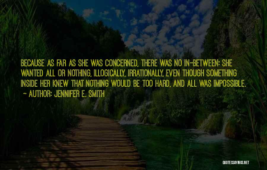 Jennifer E. Smith Quotes 2180813