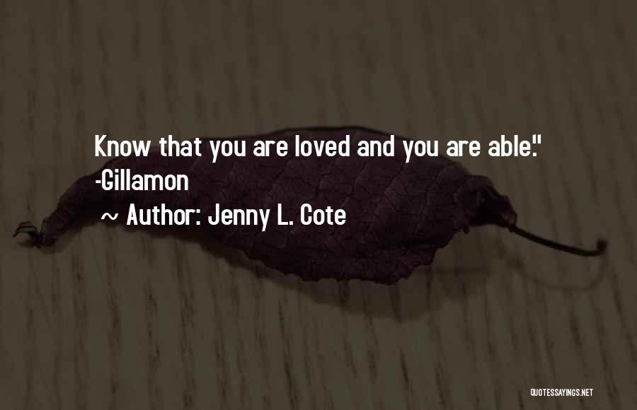 Jenny L. Cote Quotes 1336900