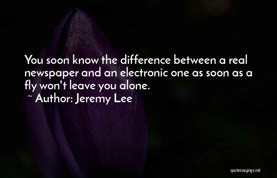 Jeremy Lee Quotes 539270