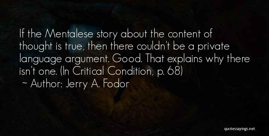 Jerry A. Fodor Quotes 917504