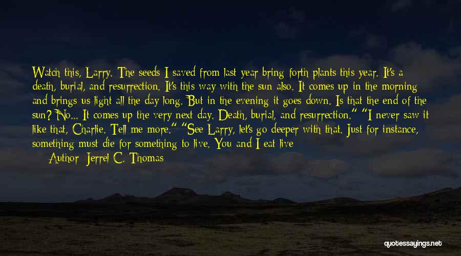 Jesus And Light Quotes By Jerrel C. Thomas