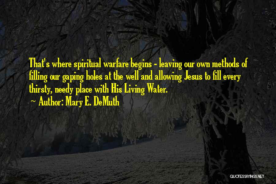 Jesus As The Living Water Quotes By Mary E. DeMuth
