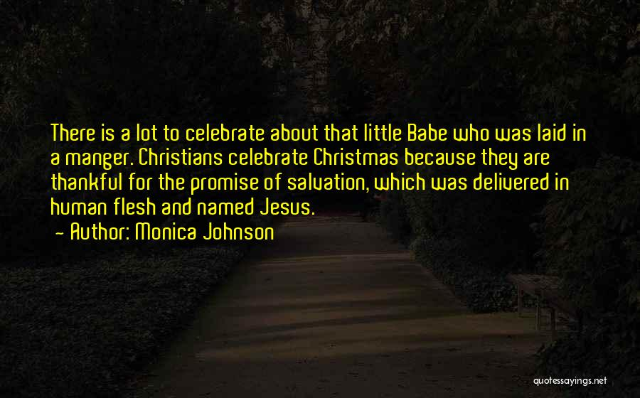 Jesus Manger Quotes By Monica Johnson
