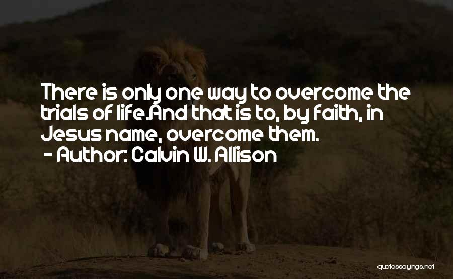 Jesus The Way Quotes By Calvin W. Allison