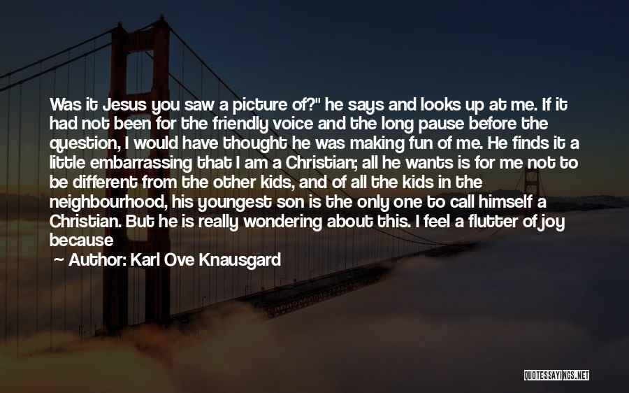 Jesus With Picture Quotes By Karl Ove Knausgard