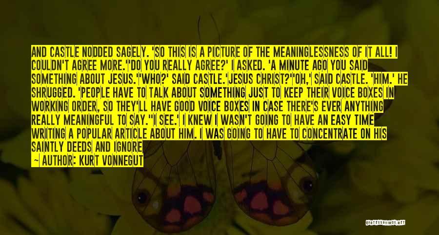Jesus With Picture Quotes By Kurt Vonnegut