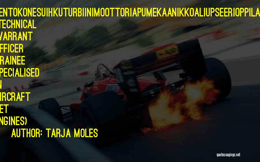 Jet Aircraft Quotes By Tarja Moles