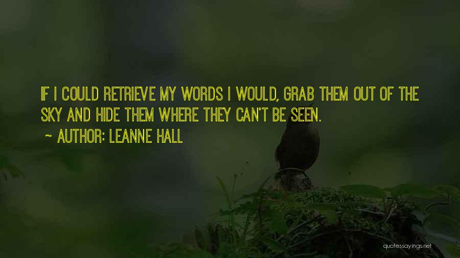 Jethro Quotes By Leanne Hall