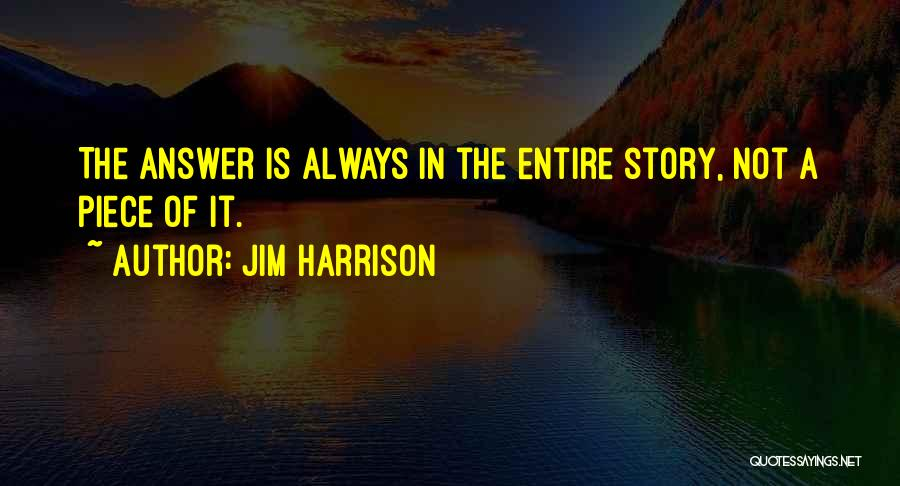 Jim Harrison Quotes 897346
