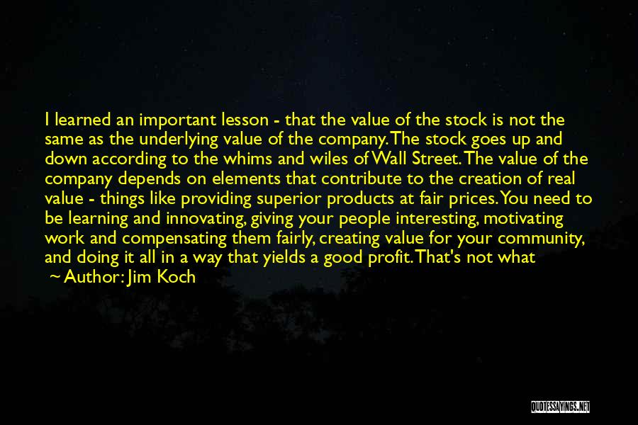 Jim Profit Quotes By Jim Koch