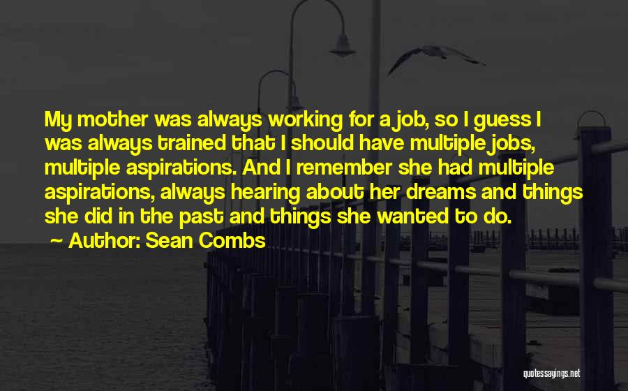 Job Aspirations Quotes By Sean Combs