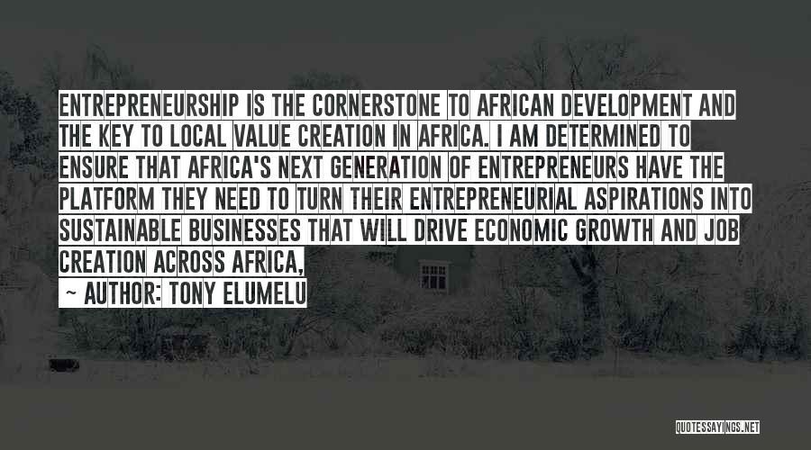 Job Aspirations Quotes By Tony Elumelu