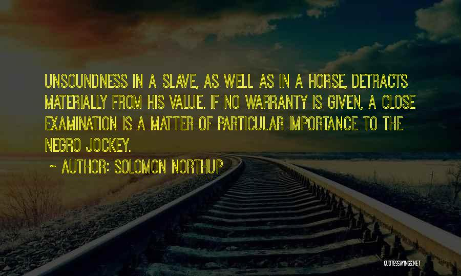 Jockey Quotes By Solomon Northup