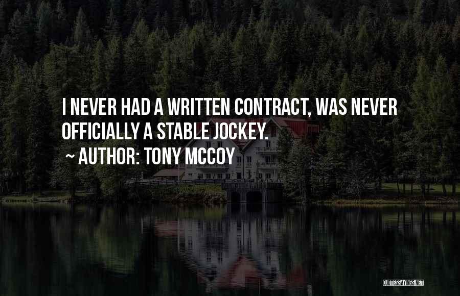Jockey Quotes By Tony McCoy