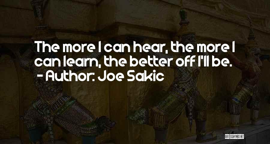 Joe Sakic Quotes 127183